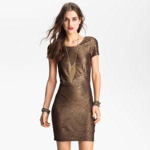 Free People Moonage Daydream Metallic Dress
